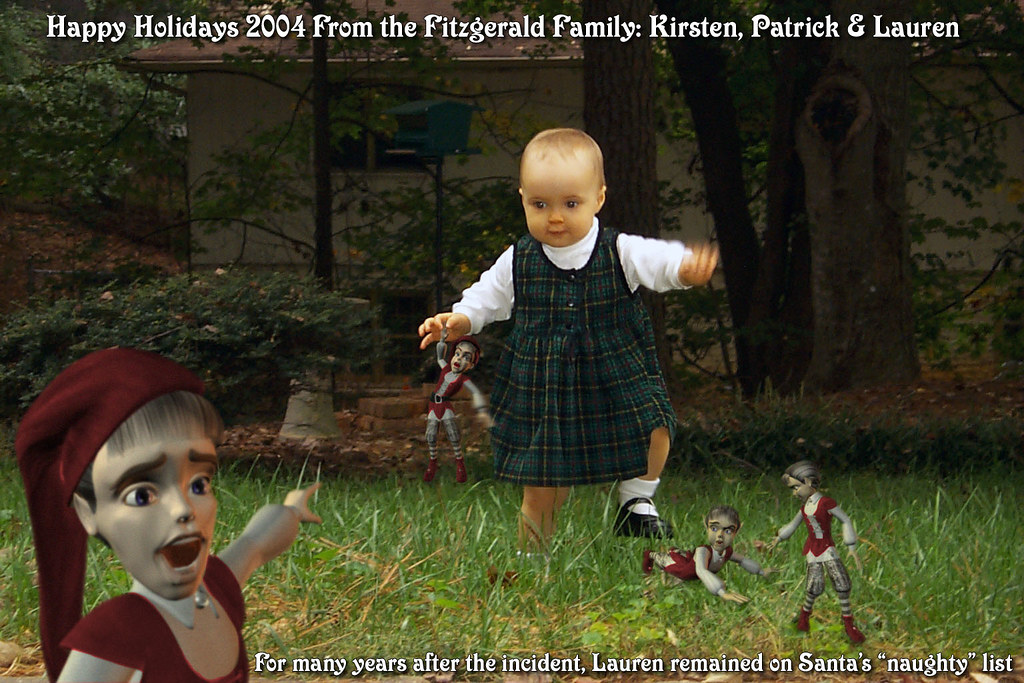 Christmas Card 2004 Elf Massacre This Is The Christmas