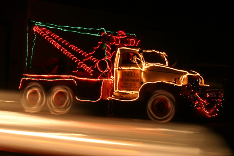 Holiday Tow Truck   The lights at the bottom of the image ar      Flickr     Holiday Tow Truck   by DavidDennisPhotos com