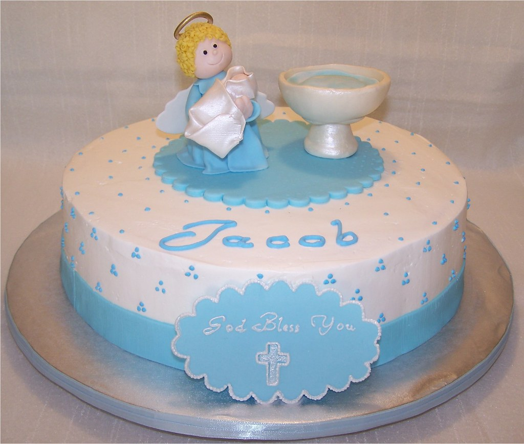 Baptism Cake For A Baby Boy