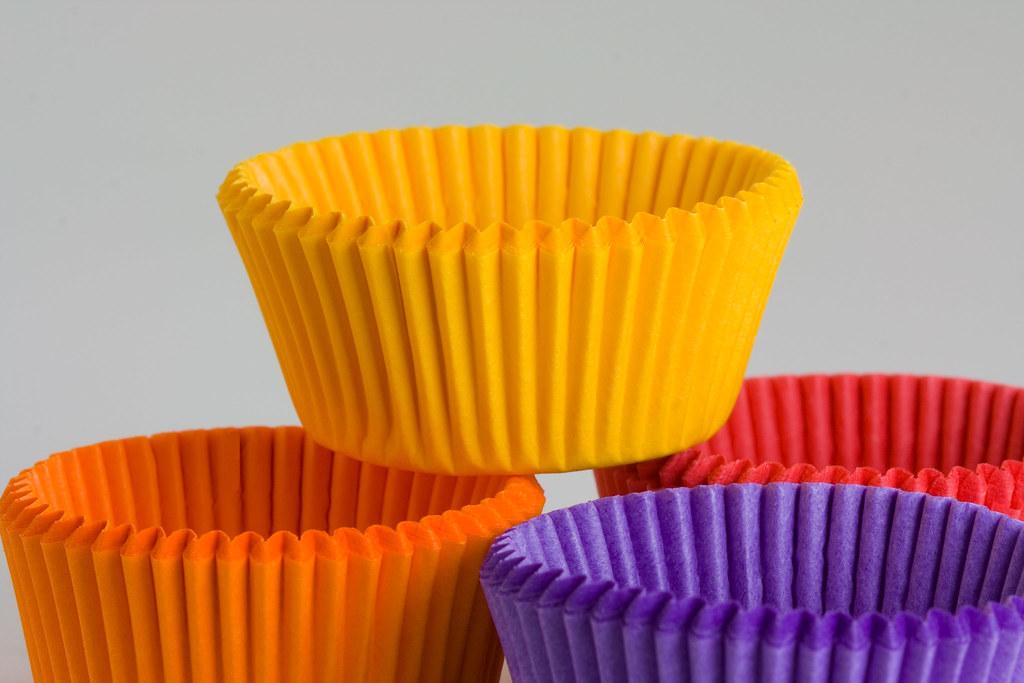 Mini Paper Cupcake Holders~100mm Macro~April 2007