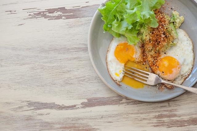 Fried Eggs with Smashed Avo & Togarashi-2