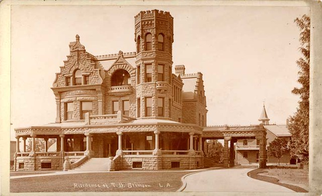 Stimson Residence C 1893 Los Angeles Historic Cultural