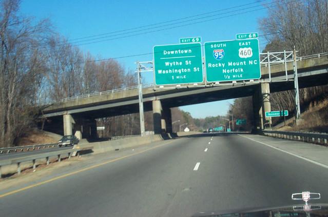 I 95 Exits Virginia Map