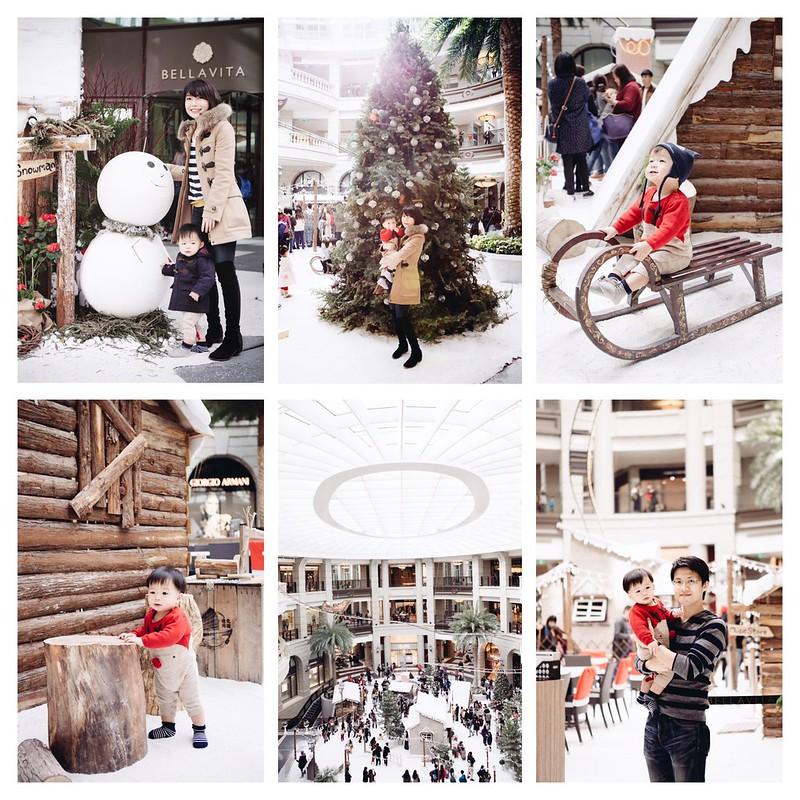 ▌Aaron ▌ Bellavita下雪了!和寶寶一起穿牛角外套過聖誕