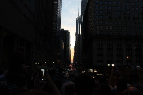 Cloudy Manhattanhenge