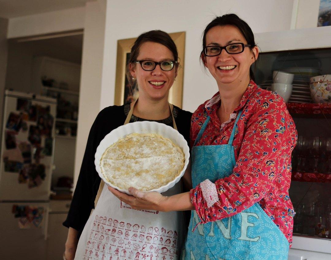 Patricia und Maret und Teig