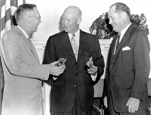 President Eisenhower with Dryden and Glennan | President ...