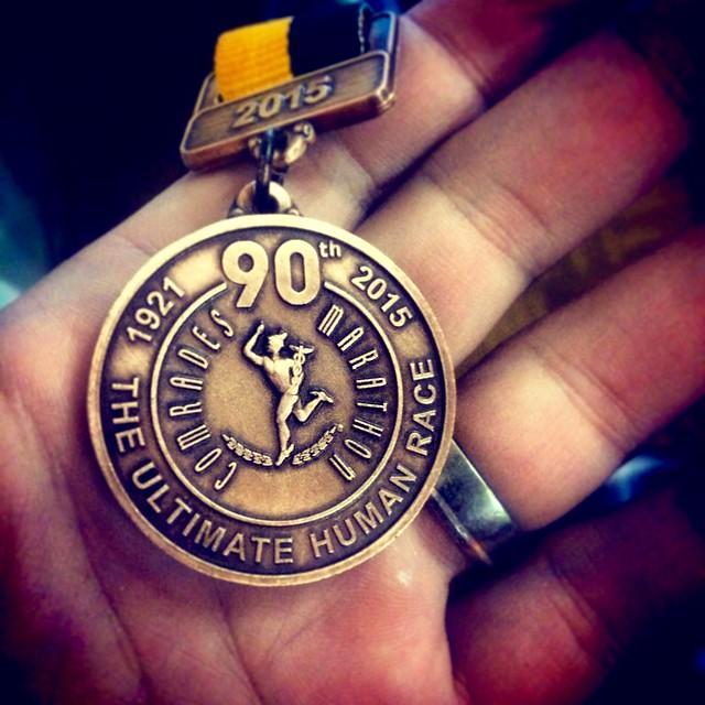 My hard-earned medal
