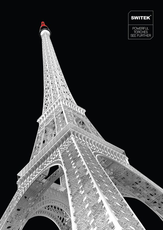 Switek Torches - Powerful Torches See Further Eiffel Tower