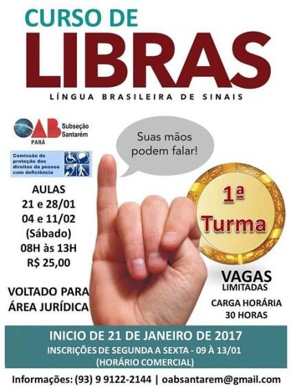 OAB em Santarém abre inscrições para curso de Libras, libras