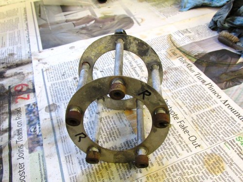 Brake Rotor Mounting Bolts and Shims