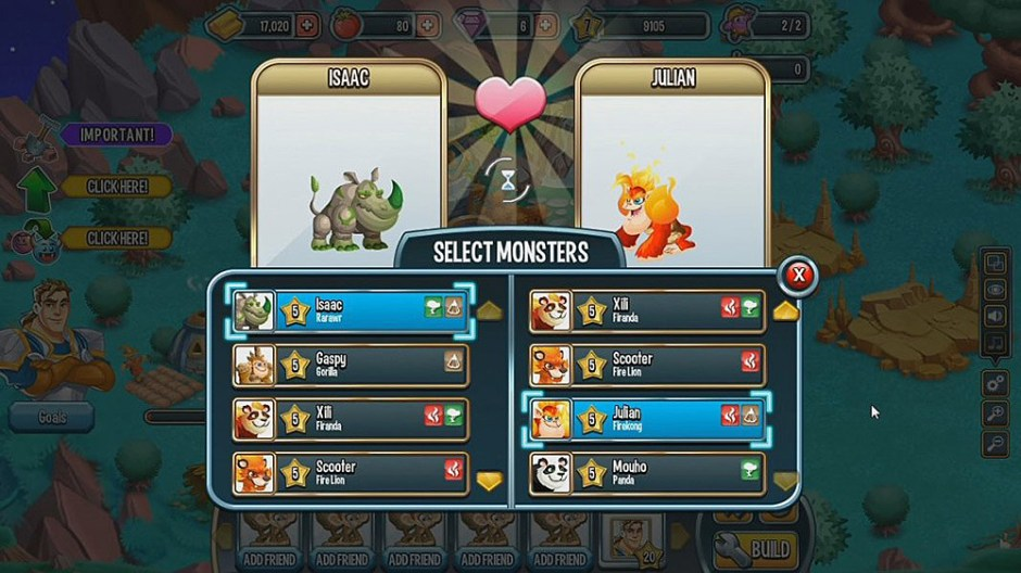 monster legends review battle