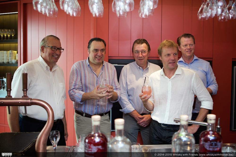 De Lindemans Premium Distilled Gins worden met trots voorgesteld.