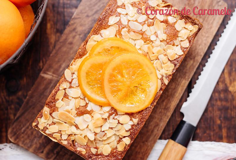 Bizcocho de naranja y almendras for Bizcocho de yogur y almendra