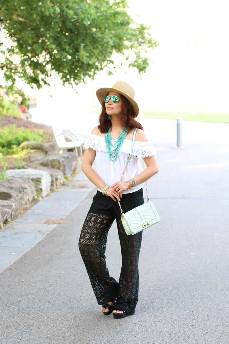 Summer-outfit-black-white-teal-9