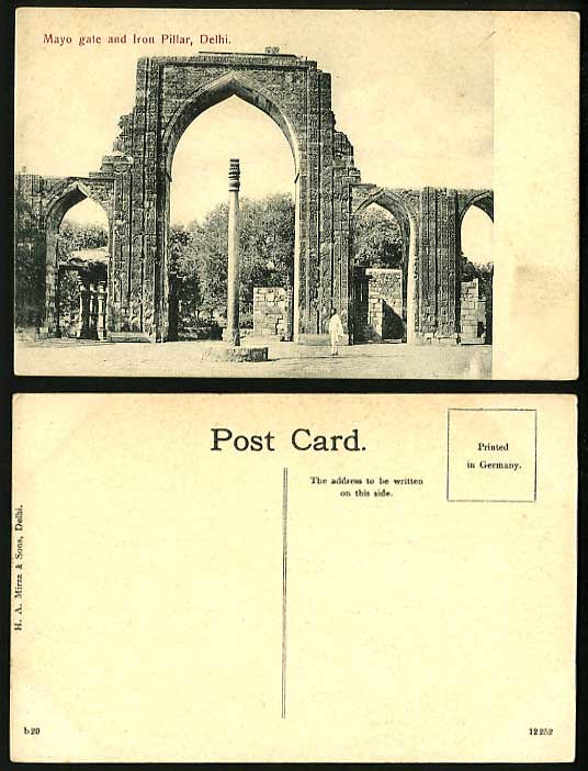 City Monuments – H.A. Mirza & Sons Postcards, Muslim Delhi