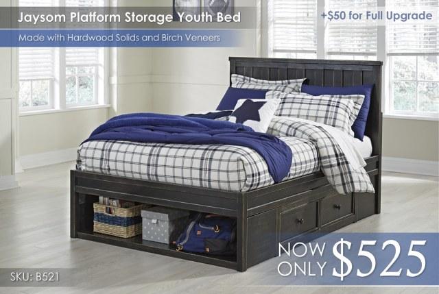 Jaysom Platform Storage Youth Bed B521