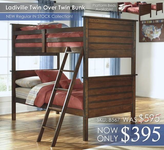 Ladiville Twin Bunk Beds B567-59P-59R-59S