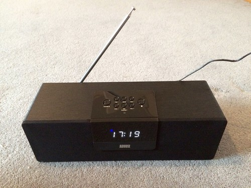 August Bluetooth Boombox with FM Radio