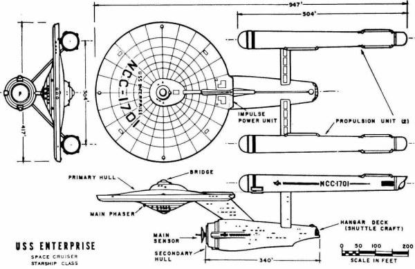 USS Enterprise Schematics By Matt Jefferies Jeffrey