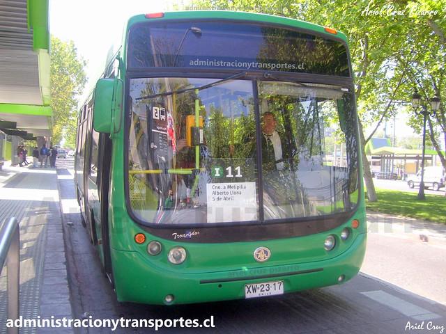 Transantiago I11 | CNM | Metalpar Tronador - Mercedes Benz / XW2317