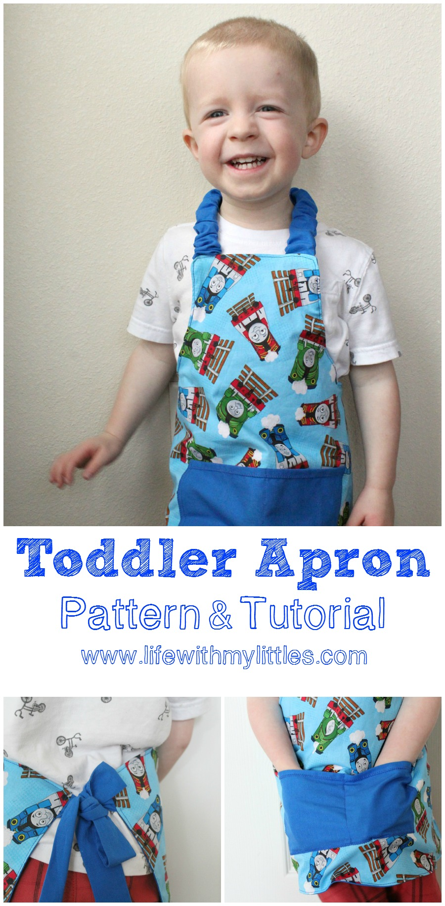 Easy Toddler Apron Pattern and Tutorial - Life With My Littles