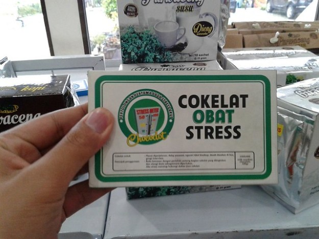 cokelat obat stress