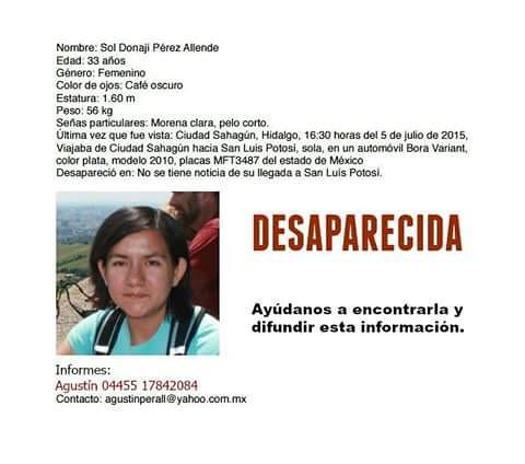 Buscan a joven que desapareció cuando se dirigía a San Luis Potosí