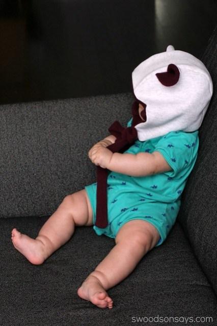 Baby in a bear hat