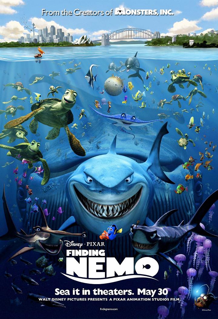 Nemoa etsimässä -juliste   Pixar-perjantai: Nemoa etsimässä - Disnerd dreams