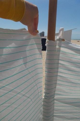 Strandzeil maken