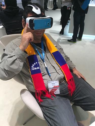 Probando los Gear VR, en el #MWC.