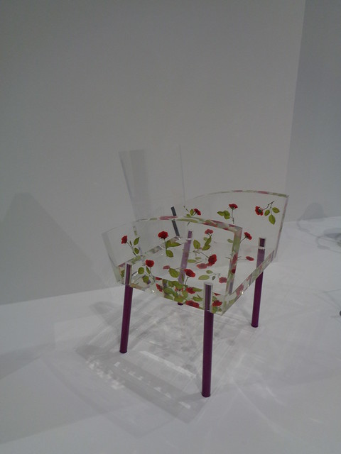 Miss Blanche chair by Shiro Kuramata, Dallas Museum of Art