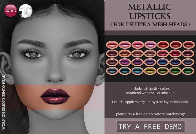 Metallic Lipsticks (LeLutka)