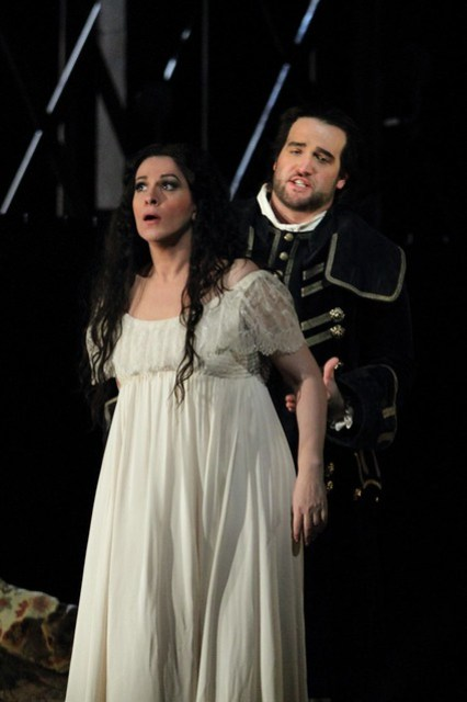 Angela Gheorghiu and Brian Jagde in Adriana Lecouvreur, The Royal Opera © ROH 2017. Photo by Catherine Ashmore