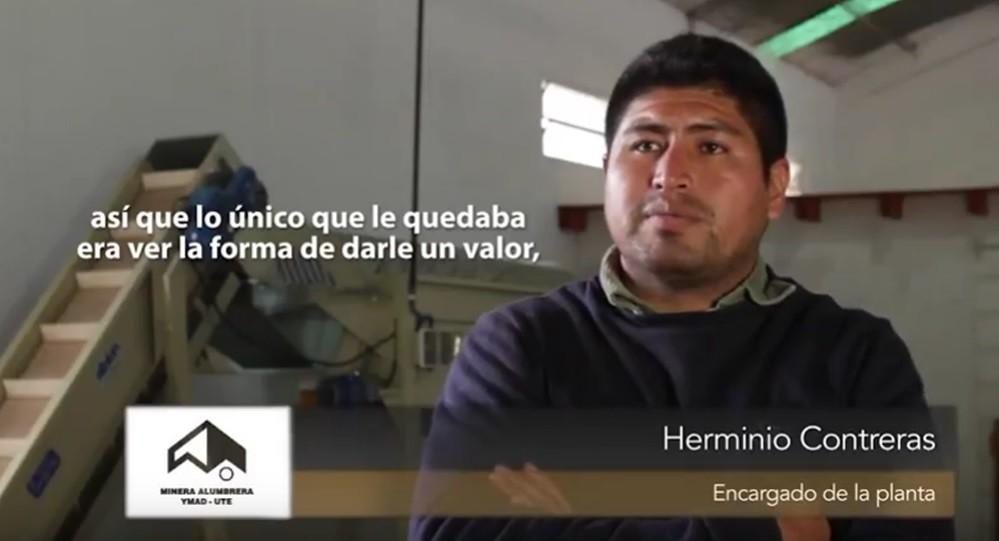 Herminio Contreras, Encargado de la Planta Procesadora de Nuez.