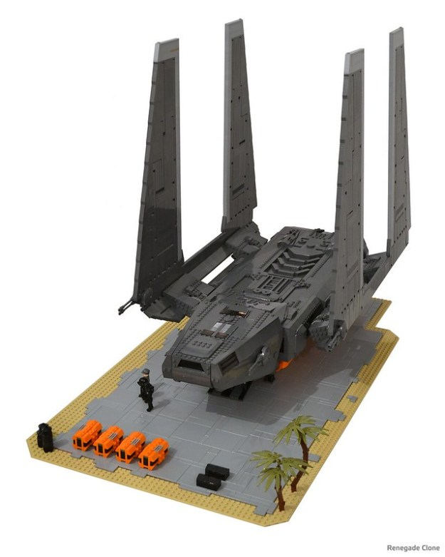 Stunning Rogue One Zeta Class Cargo Shuttle The Brothers Brick