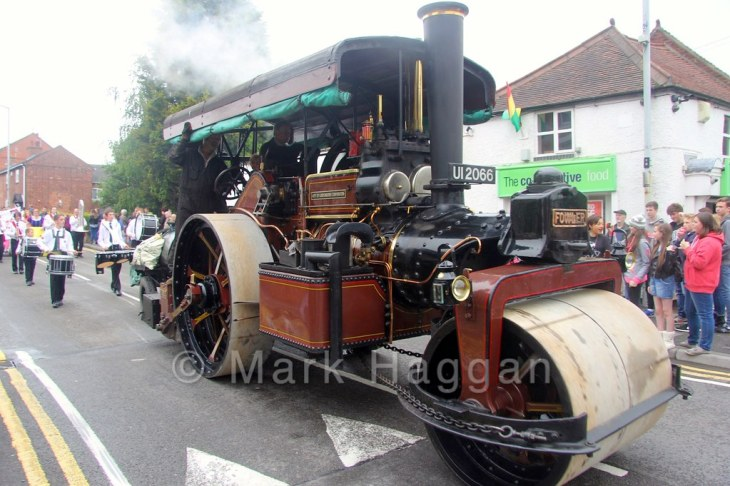 A steam roller at the Heart of the Forest Festival