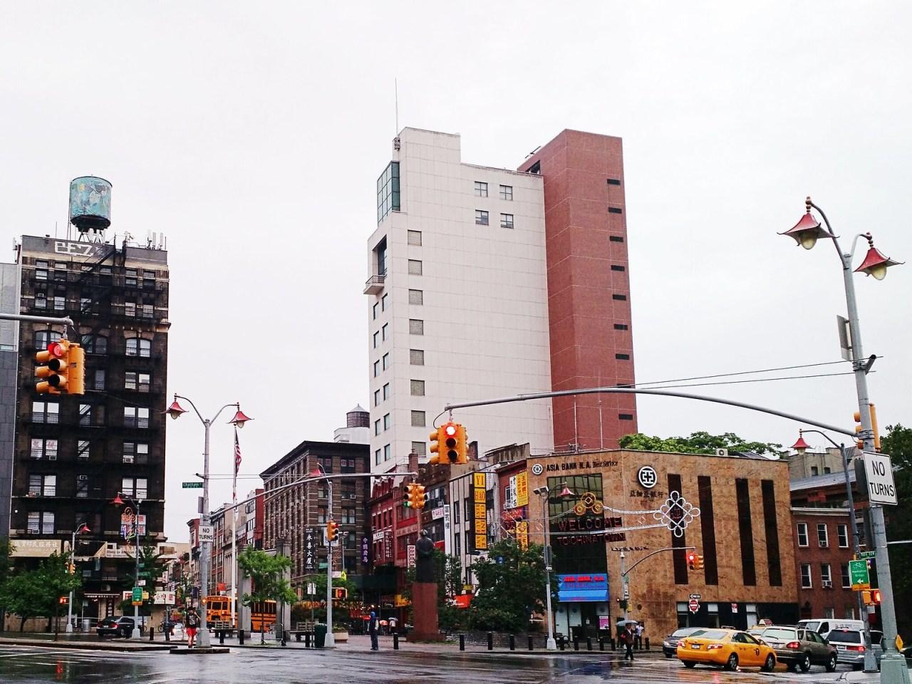 Walking to Chinatown in New York