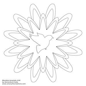 Mandala template 44