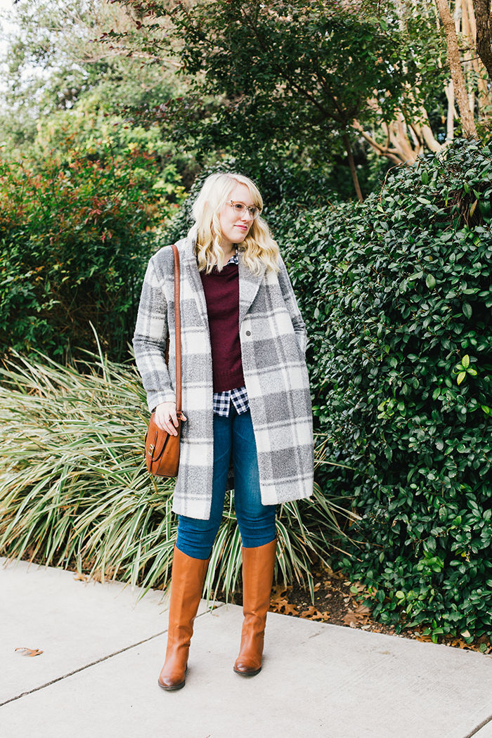 austin style blogger gingham winter outfit6