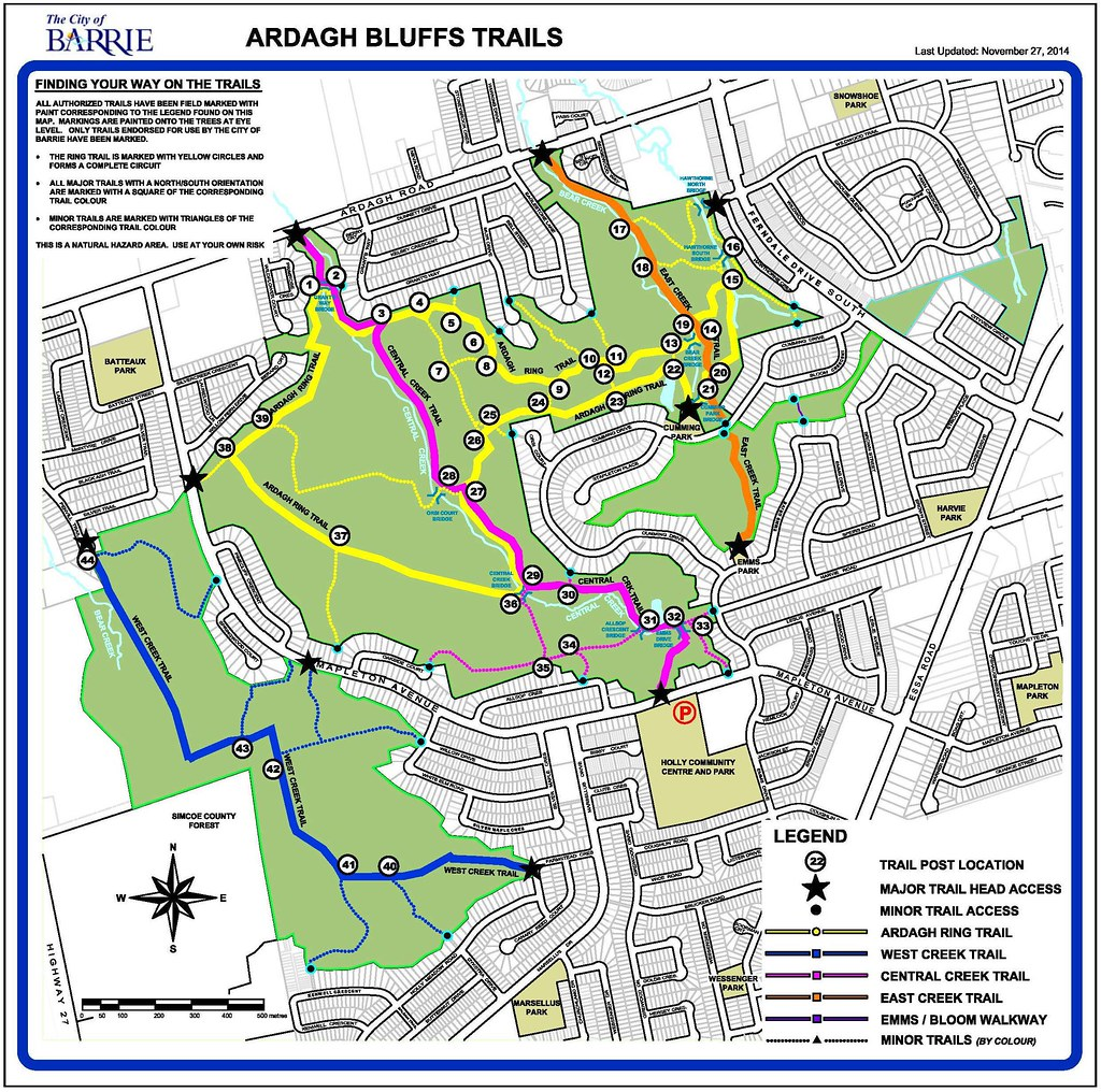 Ardagh Bluffs Trail Map