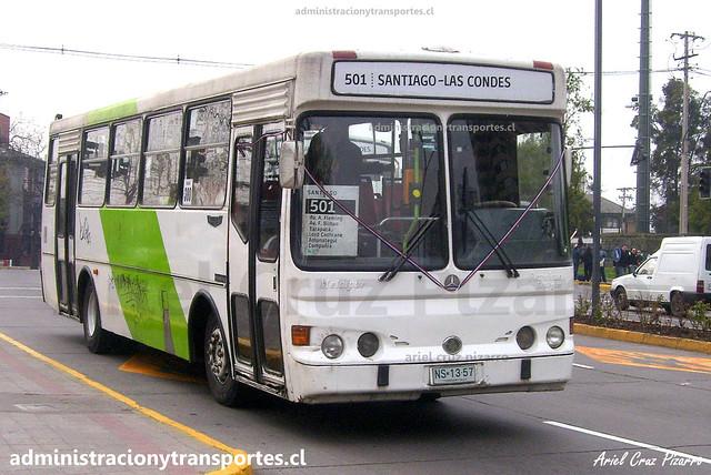 Transantiago 501 | Buses Metropolitana | Metalpar Petrohué 2000 - Mercedes Benz / NS1357