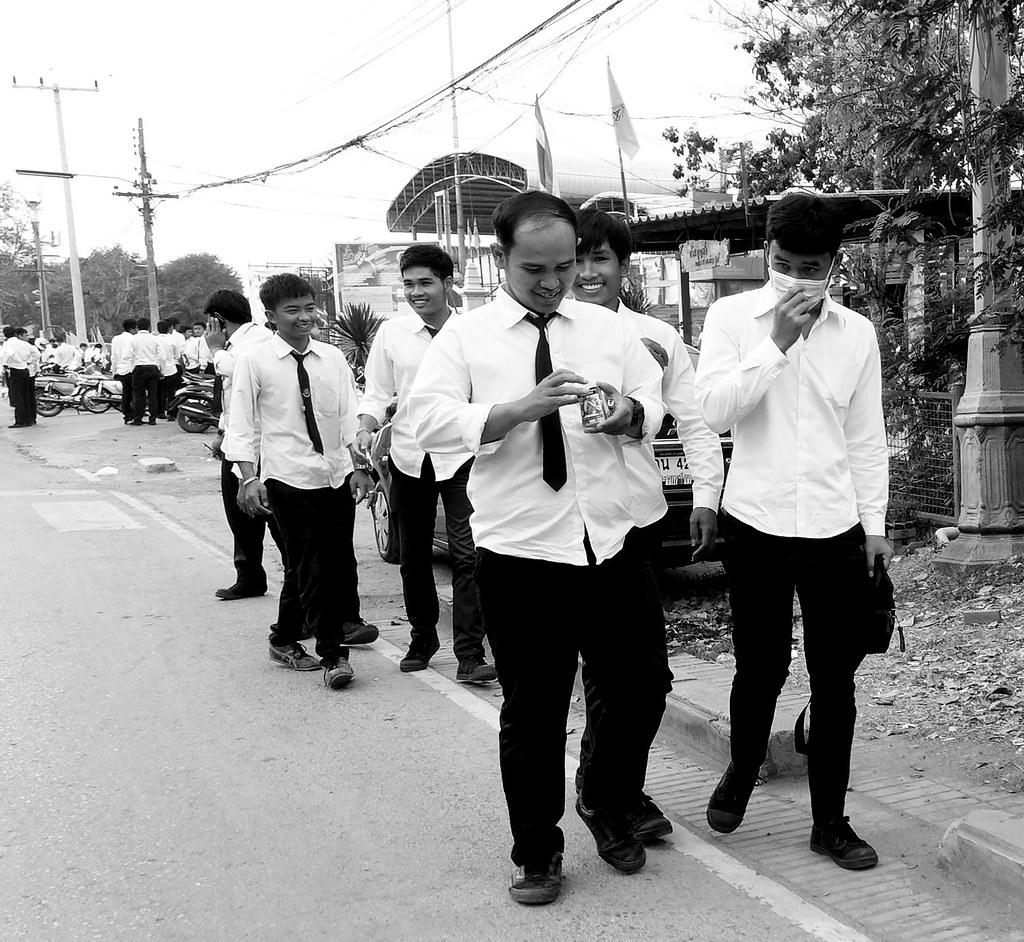 Thaïlande - Ayutthaya - 108 - Etudiants