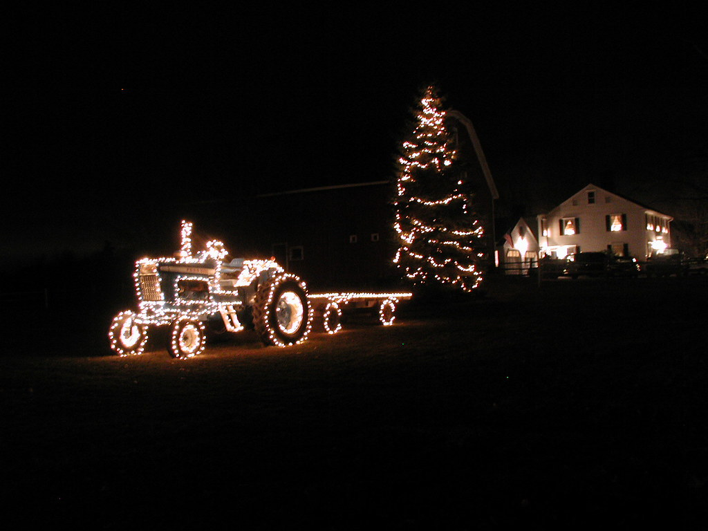Farm And Tractor With Christmas Lights Dan Mushrush Flickr