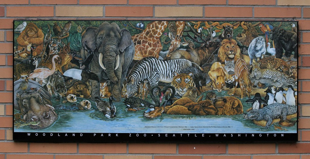 Woodland Park Zoo Art Work Near The Zoo Store Exit At