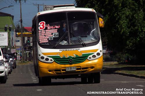 Valdivia - Línea 3 | Comercial Laurel Sur | Neobus Thunder / Mercedes Benz (VX9220)