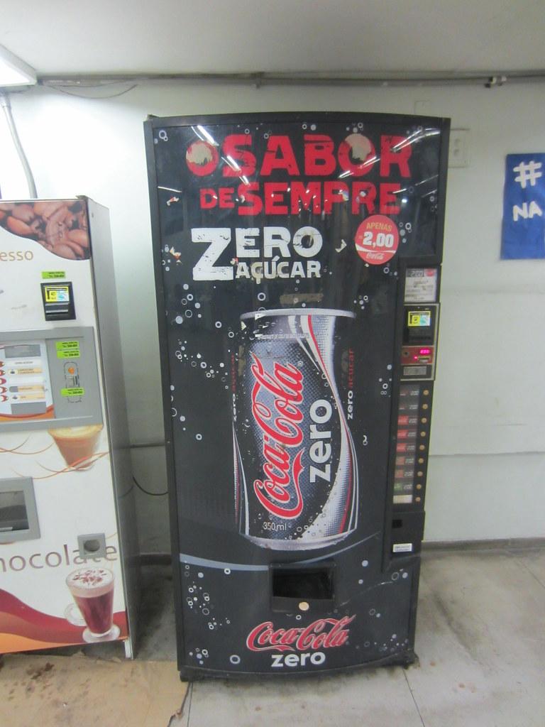 Coca Cola Zero Vending Machine At The University In Rio