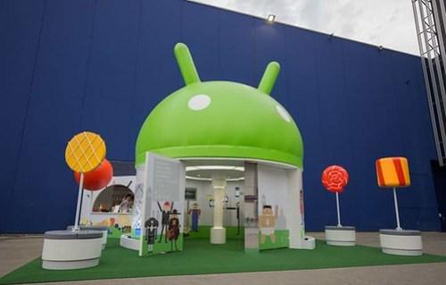 Exhibidor de Android OS e nel MWC.