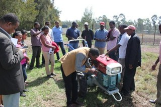 Bedilu Desta during practical training